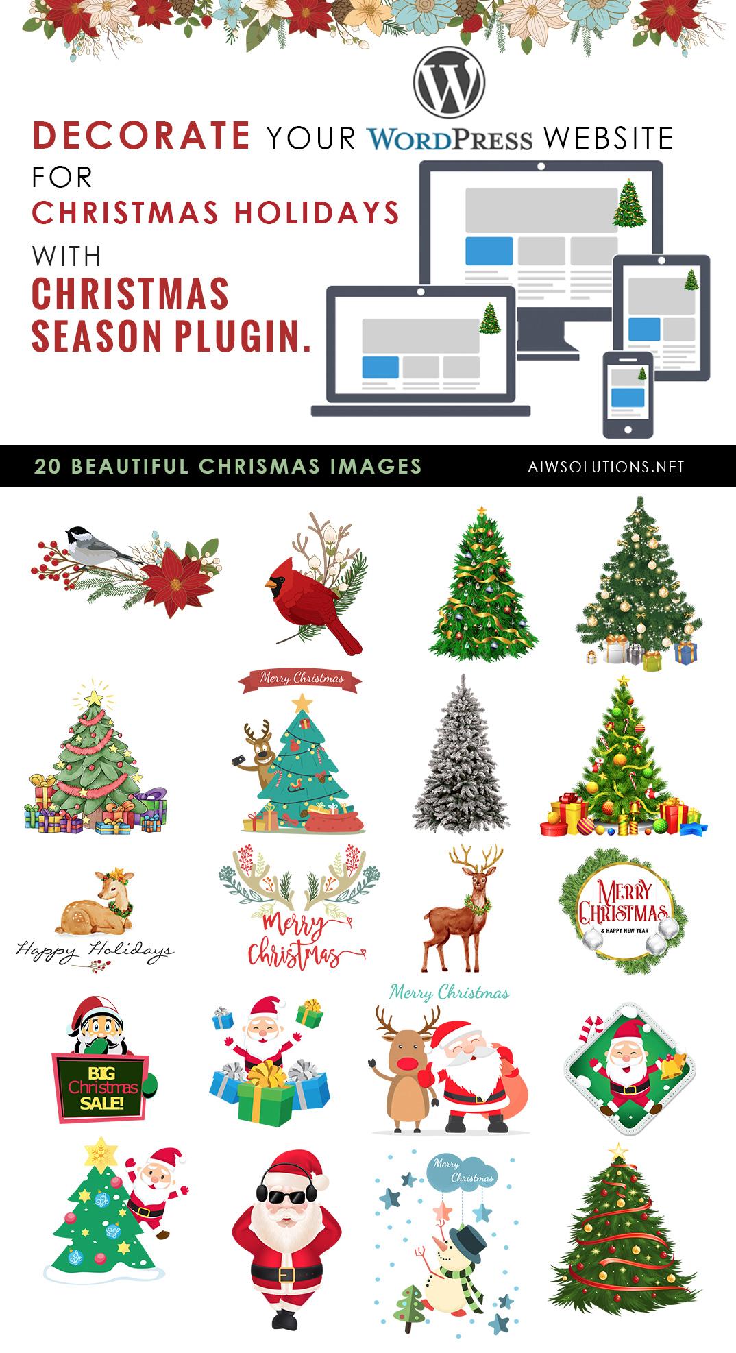holiday christmas wordpress plugin