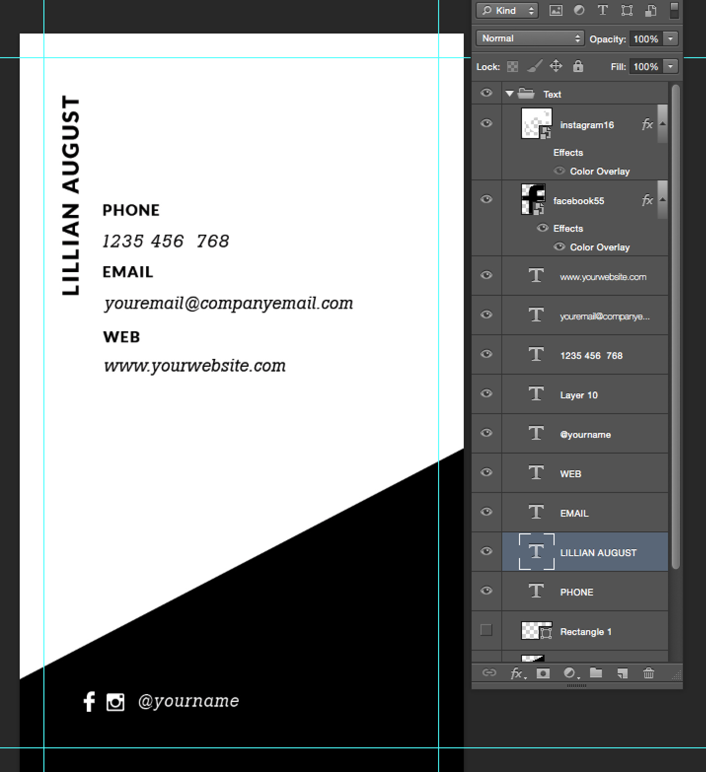 Premade business card template name card template photography name minimalist business card template flashek Choice Image
