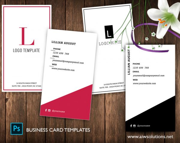 Modern and Minimalist Business card template