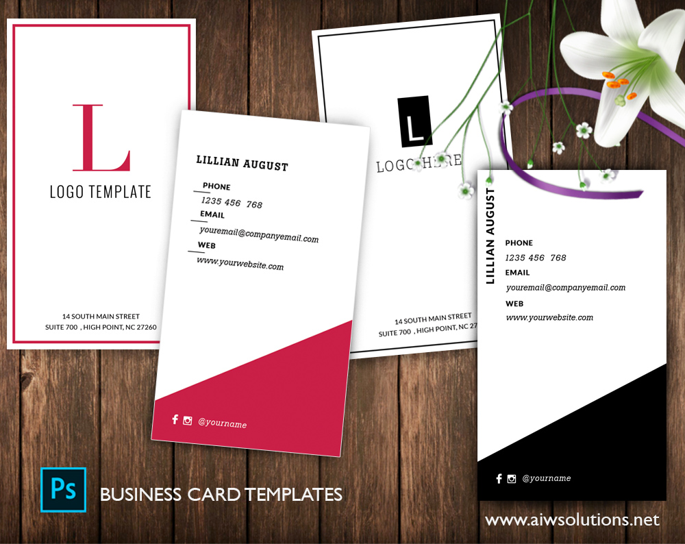 Premade Business Card Template Name Card Template Photography - Simple business card template