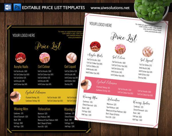 Nail Salon Pricing List