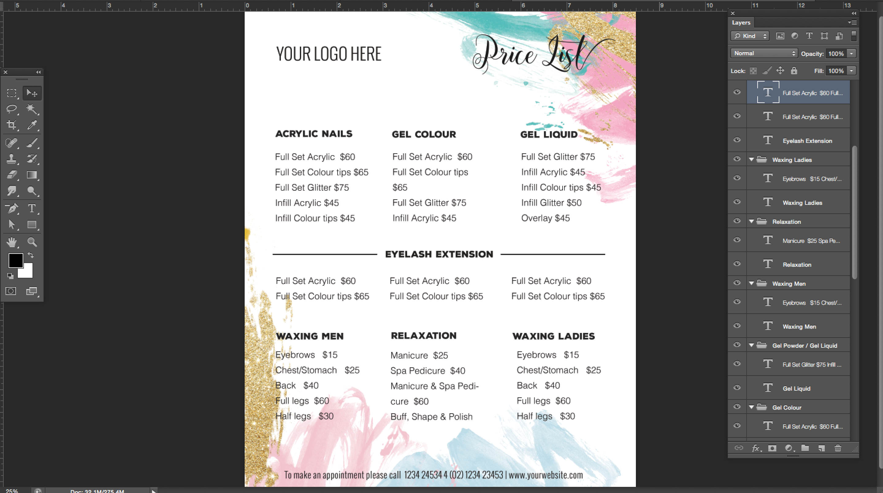 beautyproduct-pricing-list-menu-list Salon Newsletter Templates on free editable preschool, free office, adobe indesign, fun company, october preschool, free printable monthly,