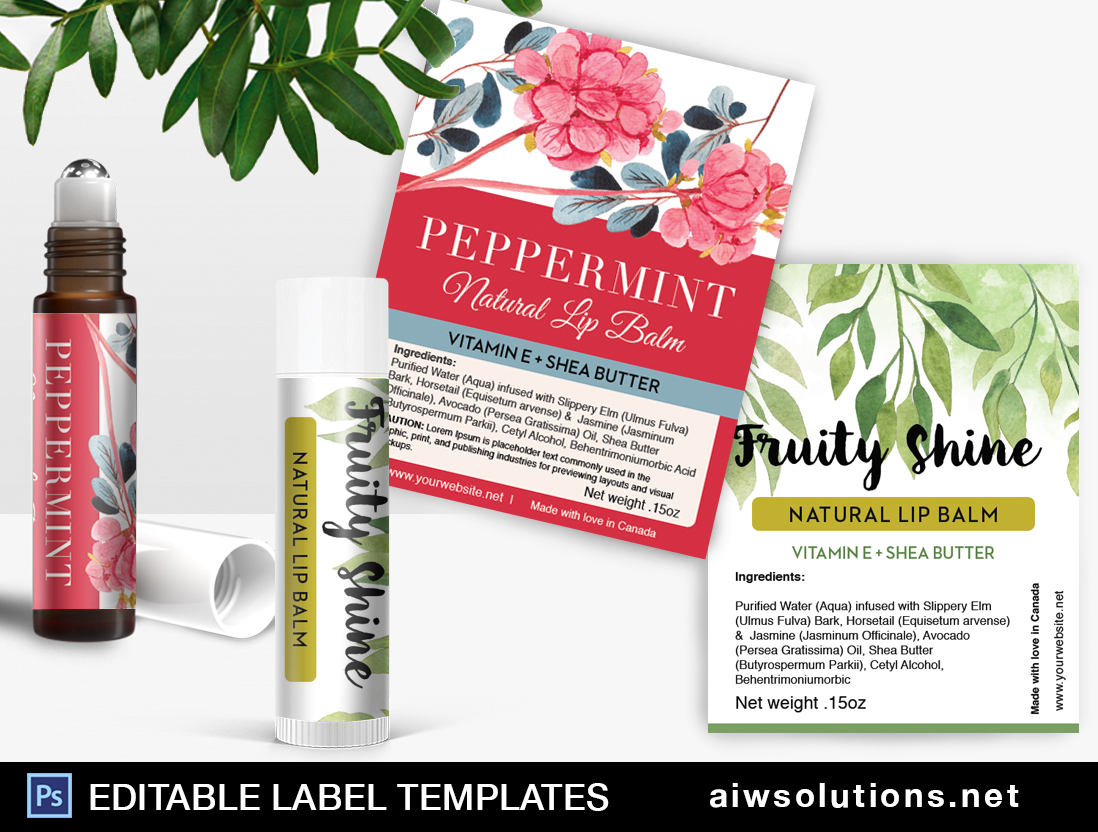 Perfume Roller Ball Label Template ID Aiwsolutions - Lip balm label template