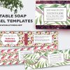 handmade soap label template, Soap Label, Editable Label, Bath Product Label, DIY Ingredient Label, Instant Print Sticker, Editable Sticker, Soap Label Template
