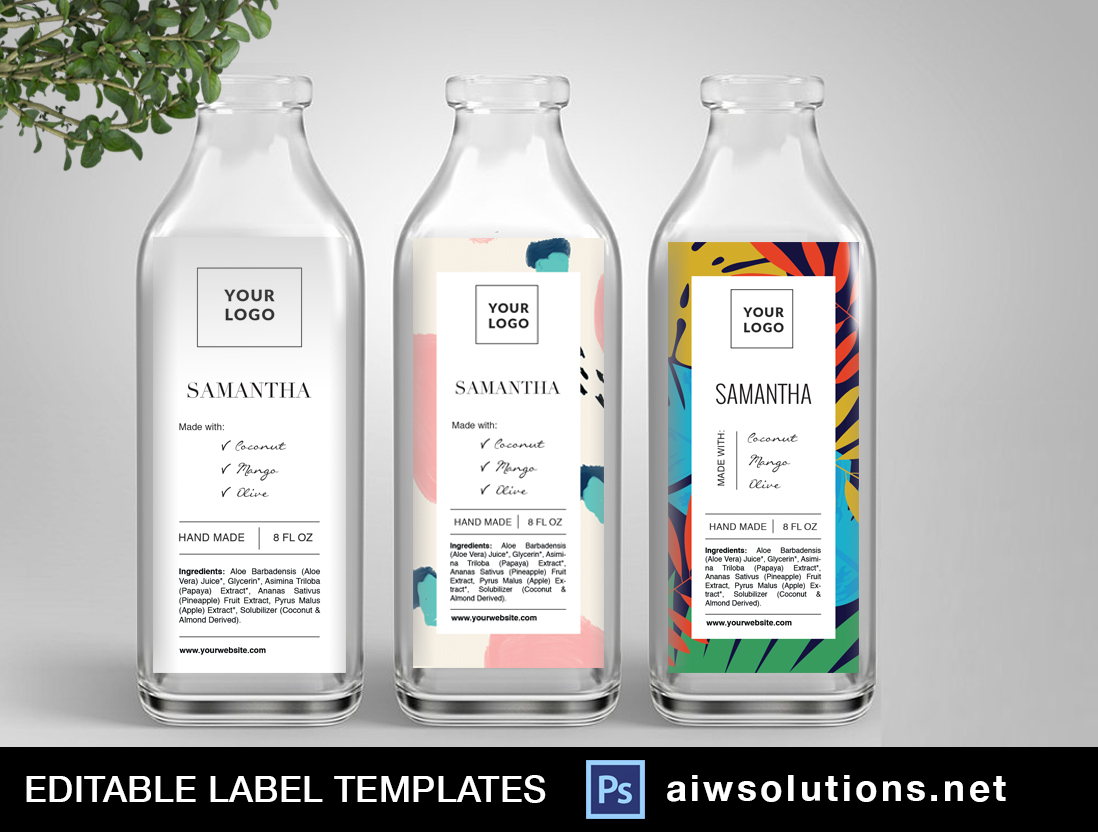 Circle Label template ID54 | aiwsolutions