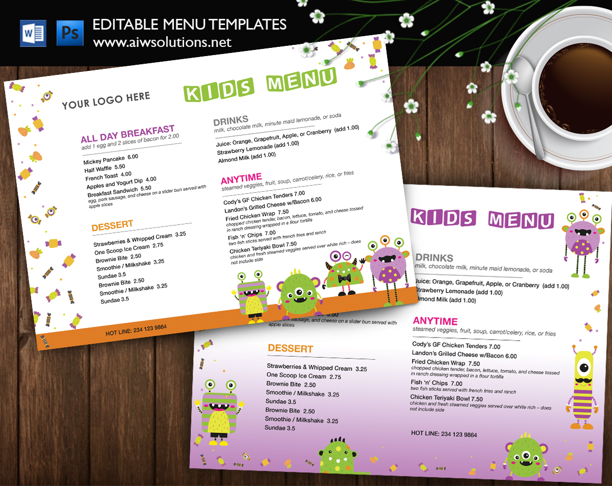 kids-menu-foodmenu-for-kid-restaurant-menu-for-kids How To Change Newsletter Templates In Word on letter head in word, business in word, newsletter templates microsoft word 2010, brochure in word, newsletter templates for microsoft word, top 10 list template word, banner design in word, powerpoint in word, logo in word,