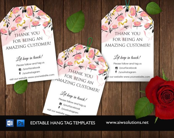 Hang tag- Gift tag-thank you tag