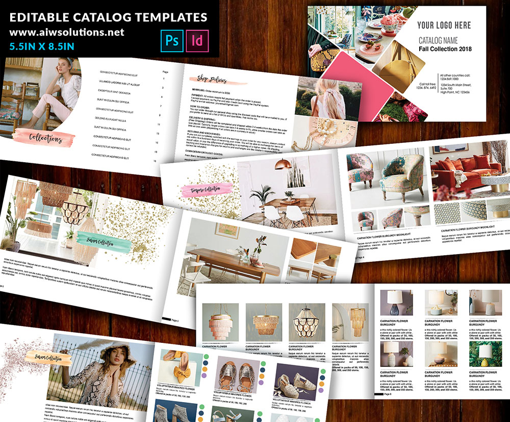 product promotion catalog, product distplay, multi purpse catalog template, female catalog template, Interior Design Lookbook Template, wholesale catalog, furniture catalog template, clothing catalog template, fashion catalog template, shoes catalog template, Indesign Lookbook Template