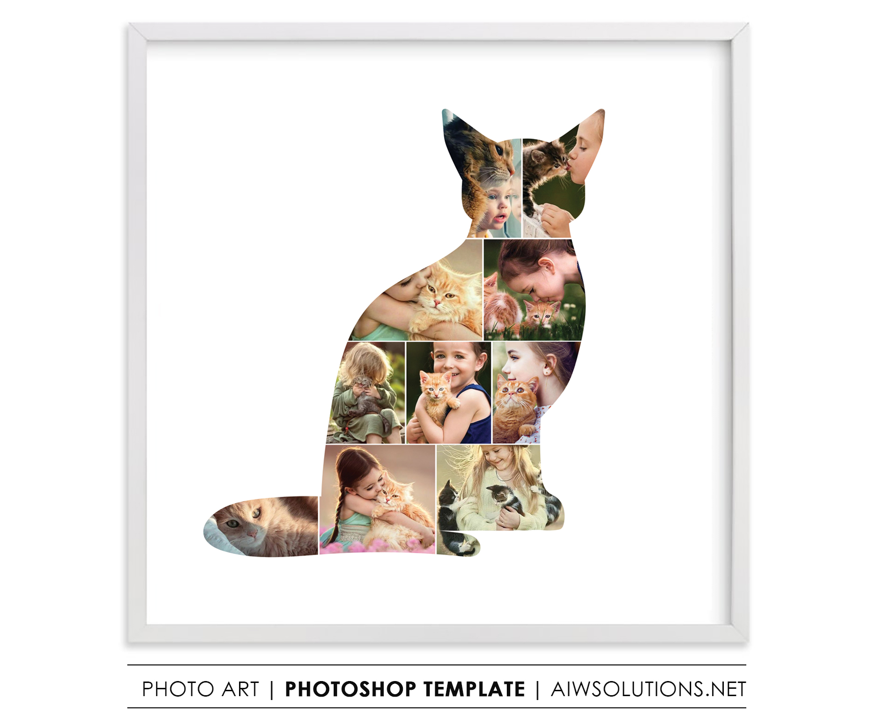 cat photo collage pet photo collage kitty photo collage. Black Bedroom Furniture Sets. Home Design Ideas